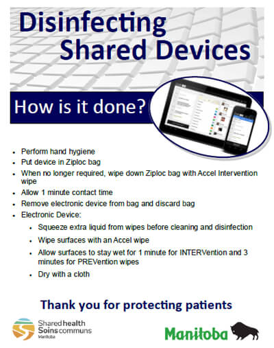 Disinfecting Shared Devices Poster